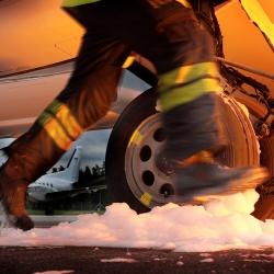 Brandövning, kund Flygteknikerskolan.